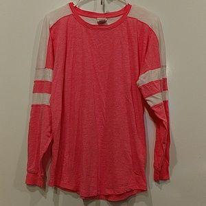 Victoria's Secret pink and white lightweight shirt